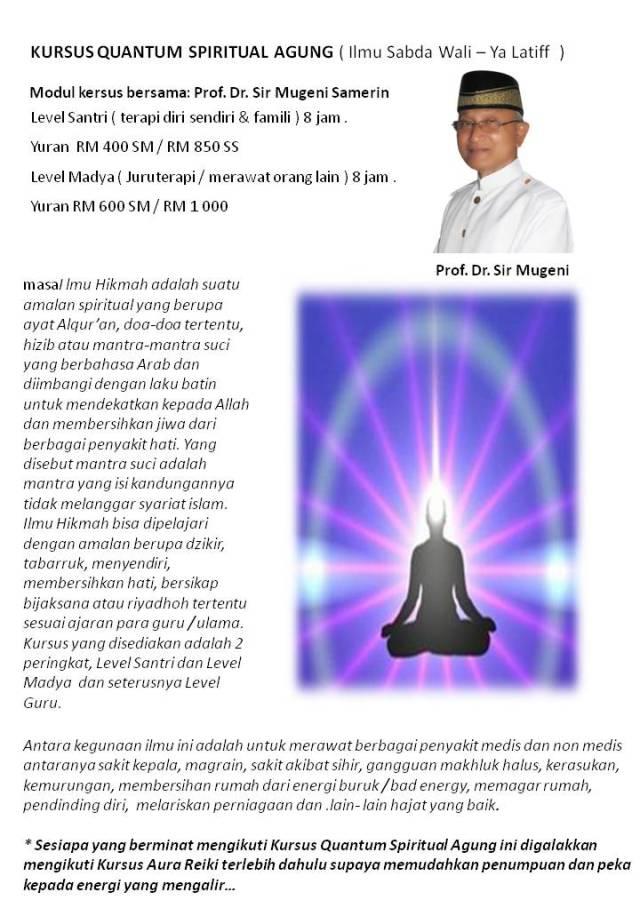 KURSUS QUANTUM SPIRITUAL AGUNG