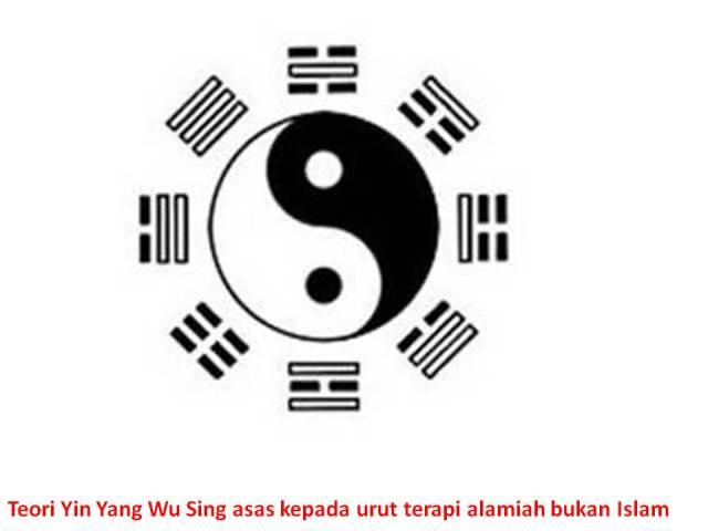 Teori Yin Yang Wu Sing asas kepada urut terapi alamiah bukan Islam