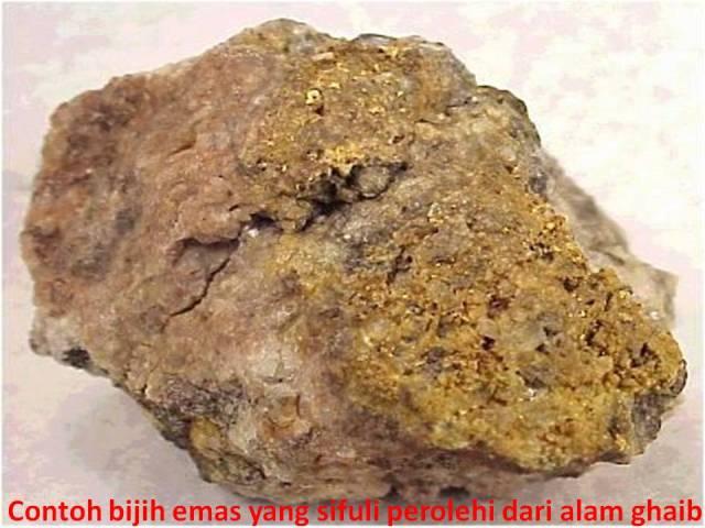 Contoh bijih emas