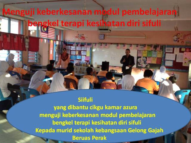 Menguji keberkesanan modul pembelajaran