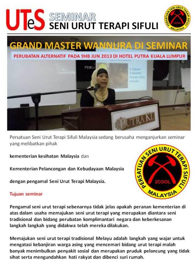 Cadangan seminar urut terapi negara