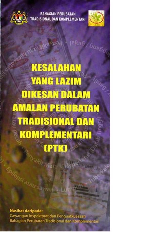Kesalahan yang lazim dikesan dalam amalan perubatan tradisinal dan komplementari 1