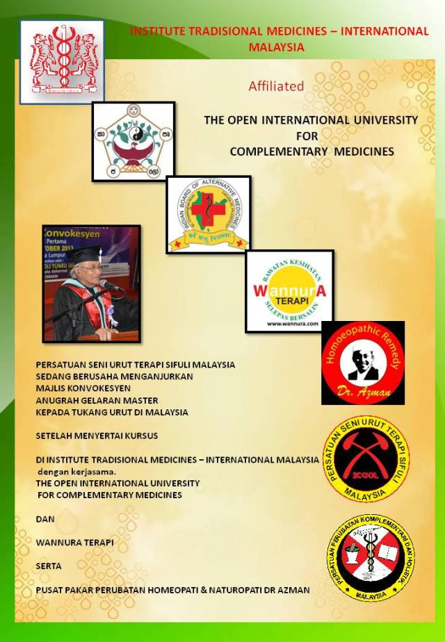 INSTITUTE TRADISIONAL MEDICINES – INTERNATIONAL 2